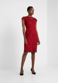 Lauren Ralph Lauren - LITCHFIELD DRESS - Vestido de cóctel - scarlet red - 1