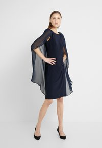 Lauren Ralph Lauren - CLASSIC DRESS COMBO - Cocktailjurk - lighthouse navy - 1