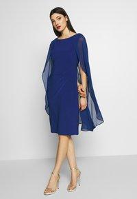 Lauren Ralph Lauren - CLASSIC DRESS COMBO - Cocktailjurk - parisian blue - 1