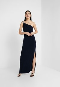 Lauren Ralph Lauren - CLASSIC LONG GOWN - Galajurk - lighthouse navy - 1