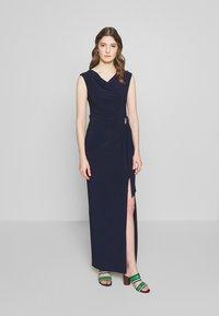 Lauren Ralph Lauren - CLASSIC LONG GOWN TRIM - Długa sukienka - lighthouse navy - 0