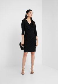 Lauren Ralph Lauren - MID WEIGHT DRESS - Žerzejové šaty - black - 1