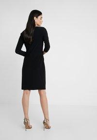 Lauren Ralph Lauren - MID WEIGHT DRESS - Vestido ligero - black - 2