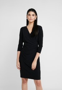 Lauren Ralph Lauren - MID WEIGHT DRESS - Žerzejové šaty - black - 0