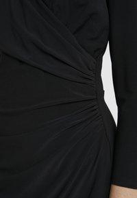 Lauren Ralph Lauren - MID WEIGHT DRESS - Vestido ligero - black - 5