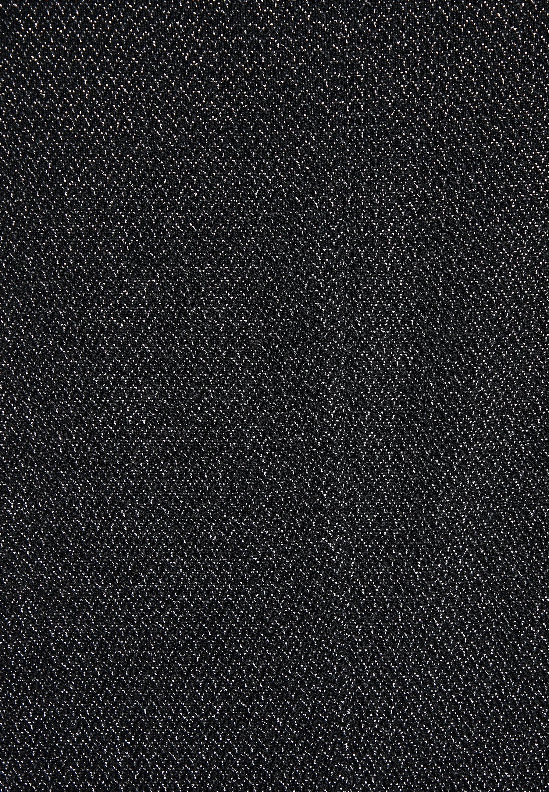 Lauren Ralph Lauren MINI METALLIC - Sukienka etui - black/silver