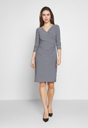 PRINTED MATTE DRESS - Day dress - lighthouse navy
