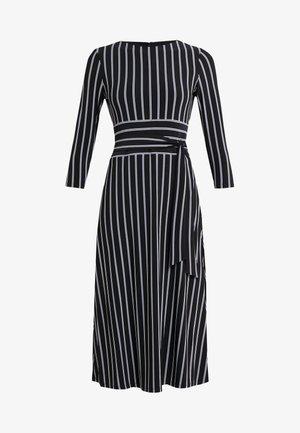 Žerzejové šaty - black/cream