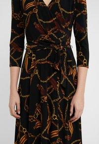 Lauren Ralph Lauren - PRINTED MATTE DRESS - Sukienka z dżerseju - black/gold/multi - 5