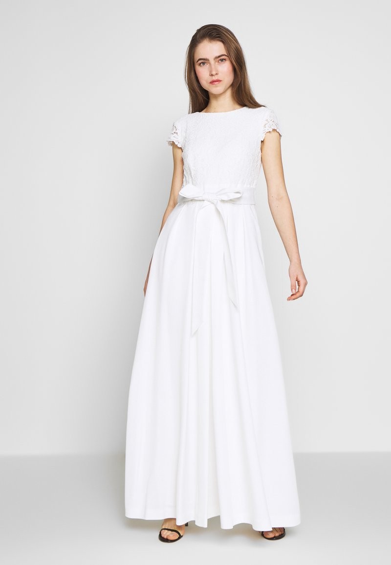 Lauren Ralph Lauren - FAILLE LONG GOWN COMBO - Occasion wear - cream