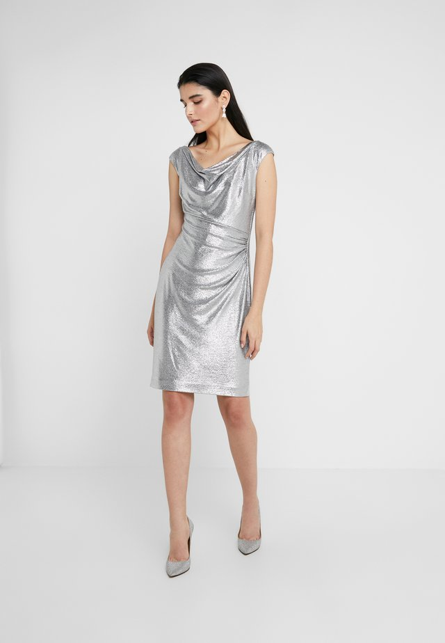 GLISTENING COCKTAIL DRESS - Sukienka koktajlowa - dark grey/silver