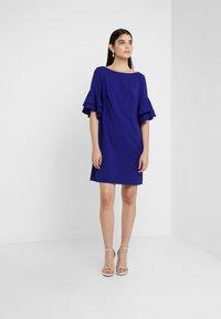 Lauren Ralph Lauren - LUXE TECH DRESS - Jerseyjurk - cannes blue - 1