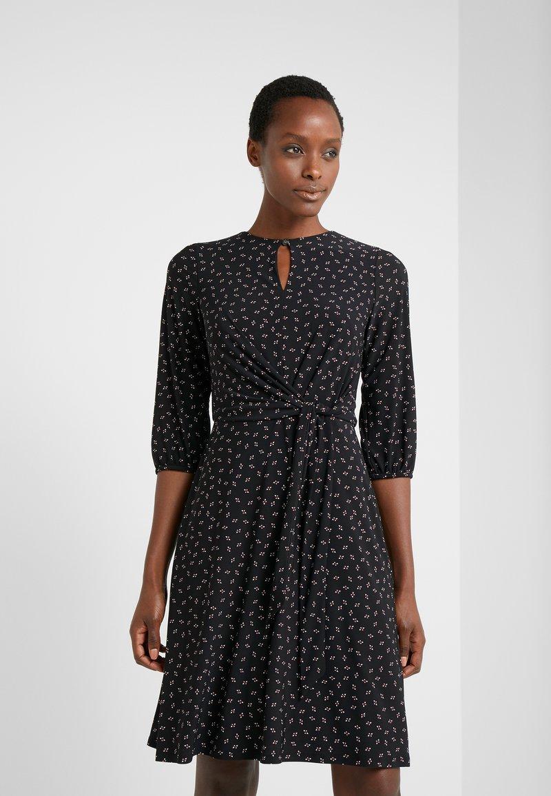Lauren Ralph Lauren - PRINTED MATTE  - Jerseyklänning - black/parlor red
