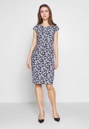 PRINTED DRESS - Pouzdrové šaty - lighthouse navy