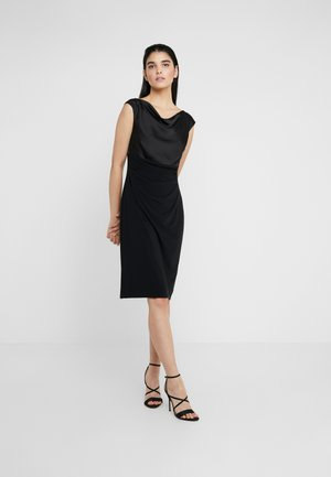 MID WEIGHT DRESS COMBO - Pouzdrové šaty - black