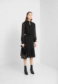Lauren Ralph Lauren - SWISS DOT DRESS - Vapaa-ajan mekko - polo black - 1