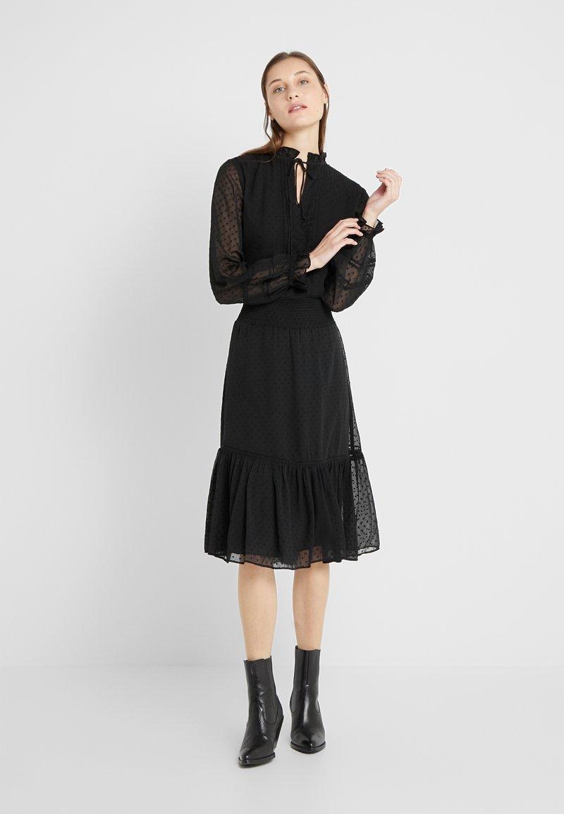 Lauren Ralph Lauren - SWISS DOT DRESS - Vapaa-ajan mekko - polo black