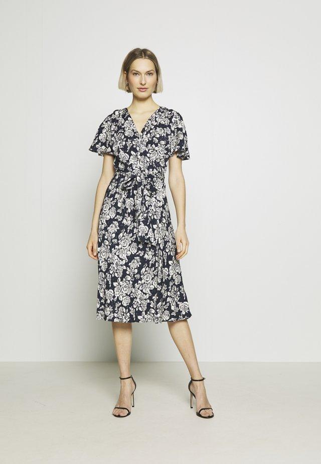 Day dress - lauren navy/pale