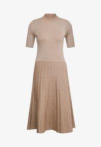Lauren Ralph Lauren - DRESS - Pletené šaty - gold - 5