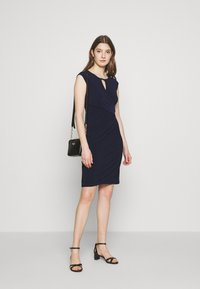 Lauren Ralph Lauren - MID WEIGHT DRESS - Shift dress - lighthouse navy - 1
