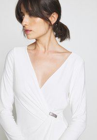 Lauren Ralph Lauren - CLASSIC DRESS TRIM - Jersey dress - lauren white - 3
