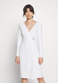 Lauren Ralph Lauren - CLASSIC DRESS TRIM - Jersey dress - lauren white - 0