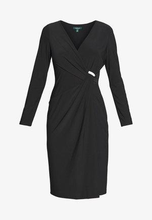 CLASSIC DRESS TRIM - Jersey dress - black
