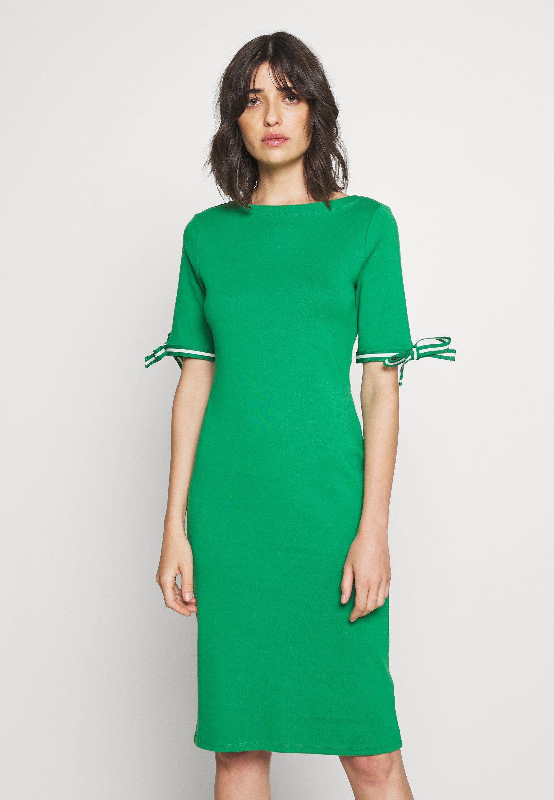 Ralph Lauren Knee Length Long Sleeve Turquoise Dress NWT $119