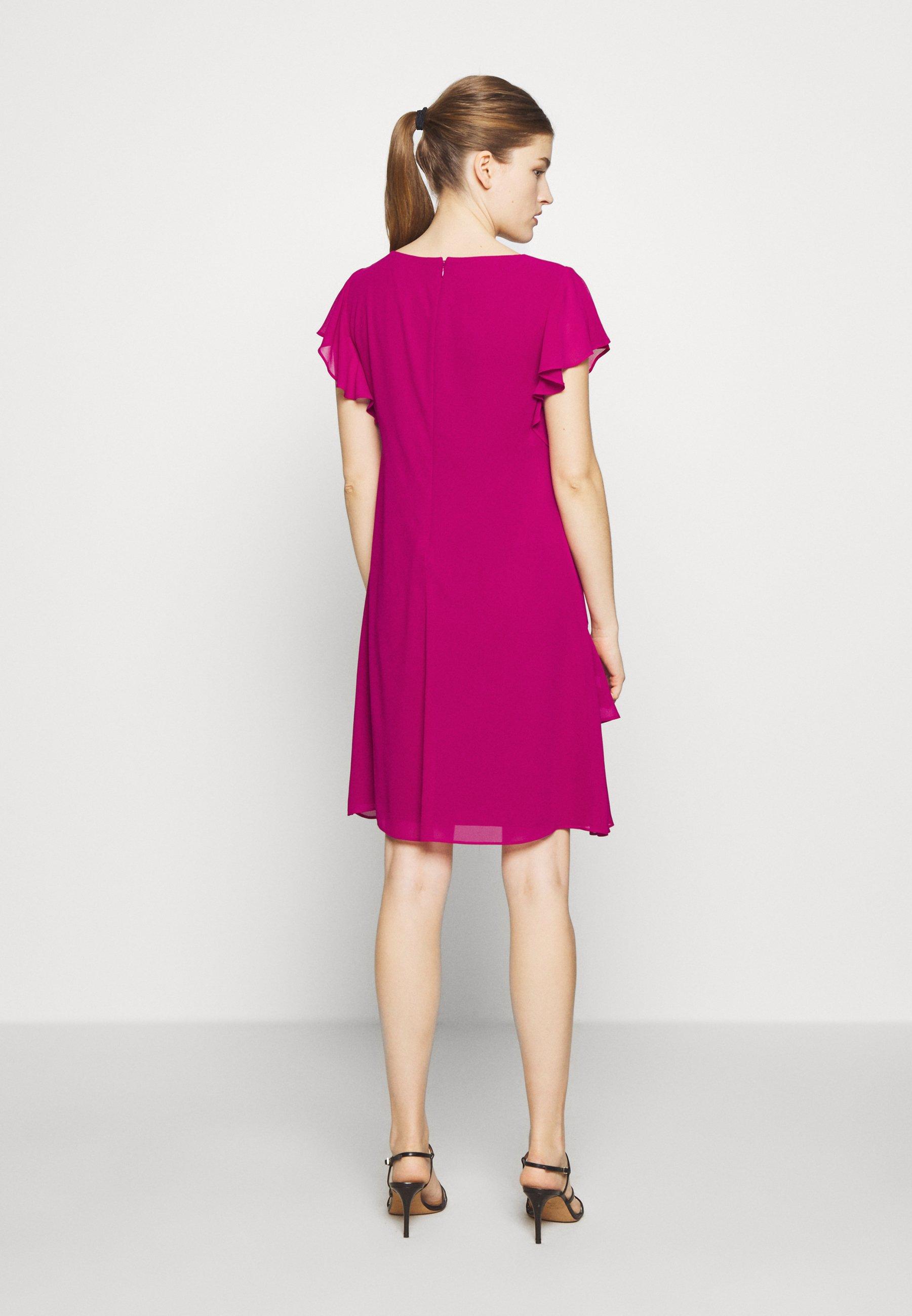Lauren Ralph Classic Solid Dress - Vardagsklänning Bright Fuchsia
