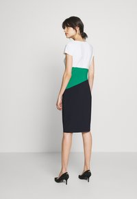 Lauren Ralph Lauren - CLASSIC TONE DRESS - Shift dress - navy/malachite - 2