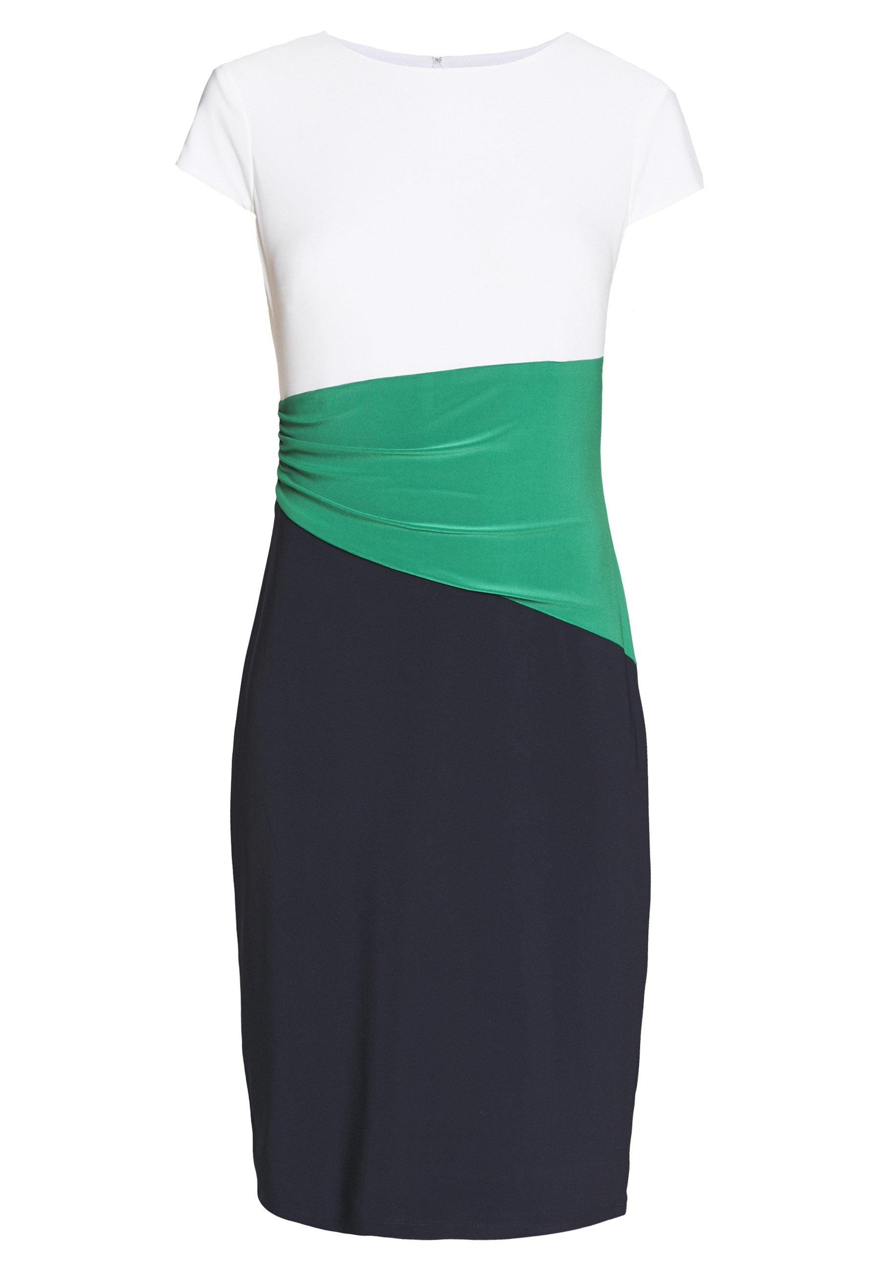 Lauren Ralph Lauren CLASSIC TONE DRESS - Sukienka etui - navy/malachite