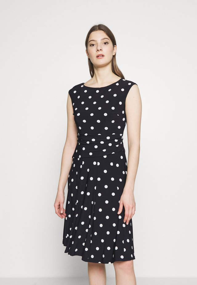 PRINTED MATTE DRESS - Jerseyklänning - navy