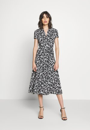 DRAPEY POLY DRESS - Day dress - black