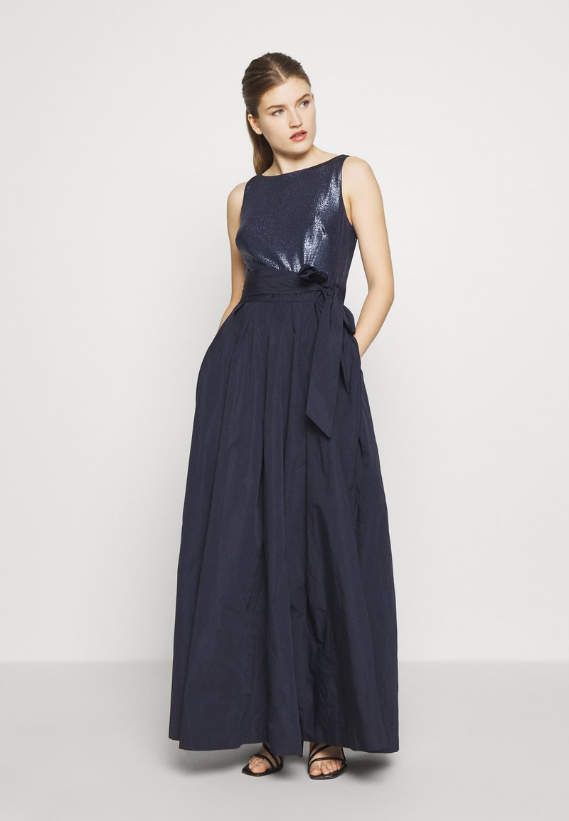 Lauren Ralph Lauren - MEMORY LONG GOWN COMBO - Galajurk - lighthouse navy
