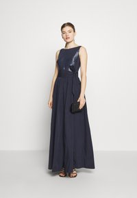 Lauren Ralph Lauren - MEMORY LONG GOWN COMBO - Galajurk - lighthouse navy - 1