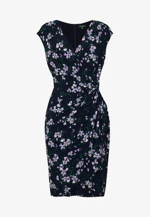 MATTE DRESS - Shift dress - dark blue/lilac
