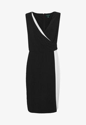 Robe en jersey - black/white