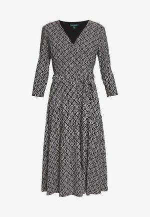 PRINTED MATTE DRESS - Jerseykjole - black/colonial