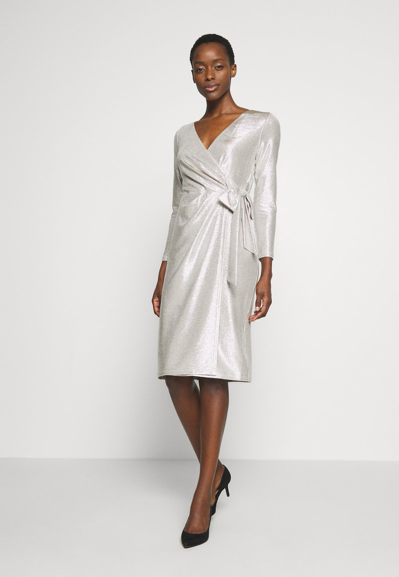 Lauren Ralph Lauren - DRESS - Vestito elegante - champagne/silver