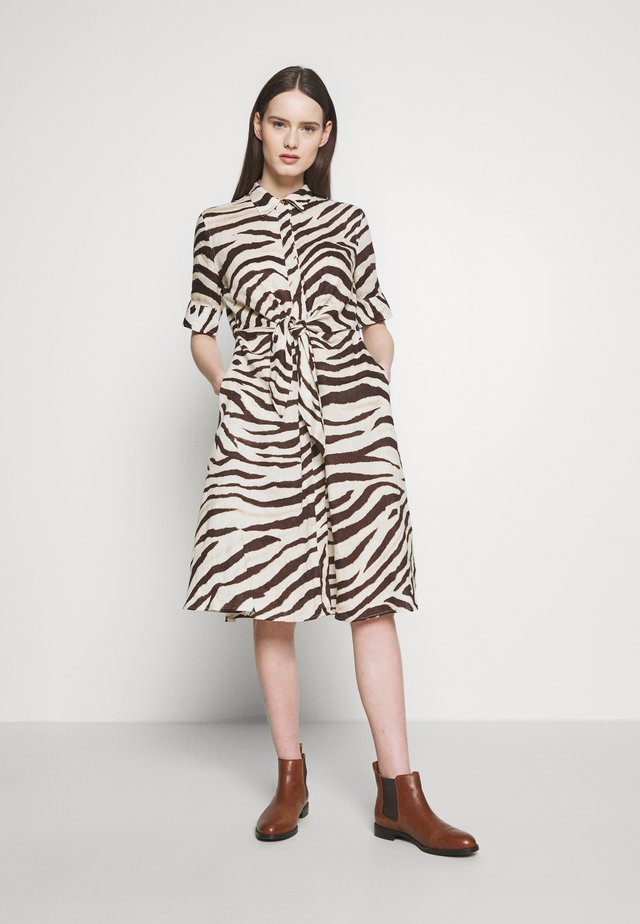 DRESS - Shirt dress - brown multi