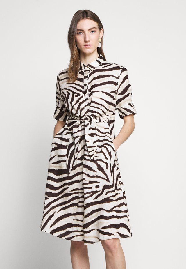 Shirt dress - brown multi