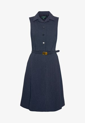 MICRO DOT PONTE DRESS - Robe chemise - navy