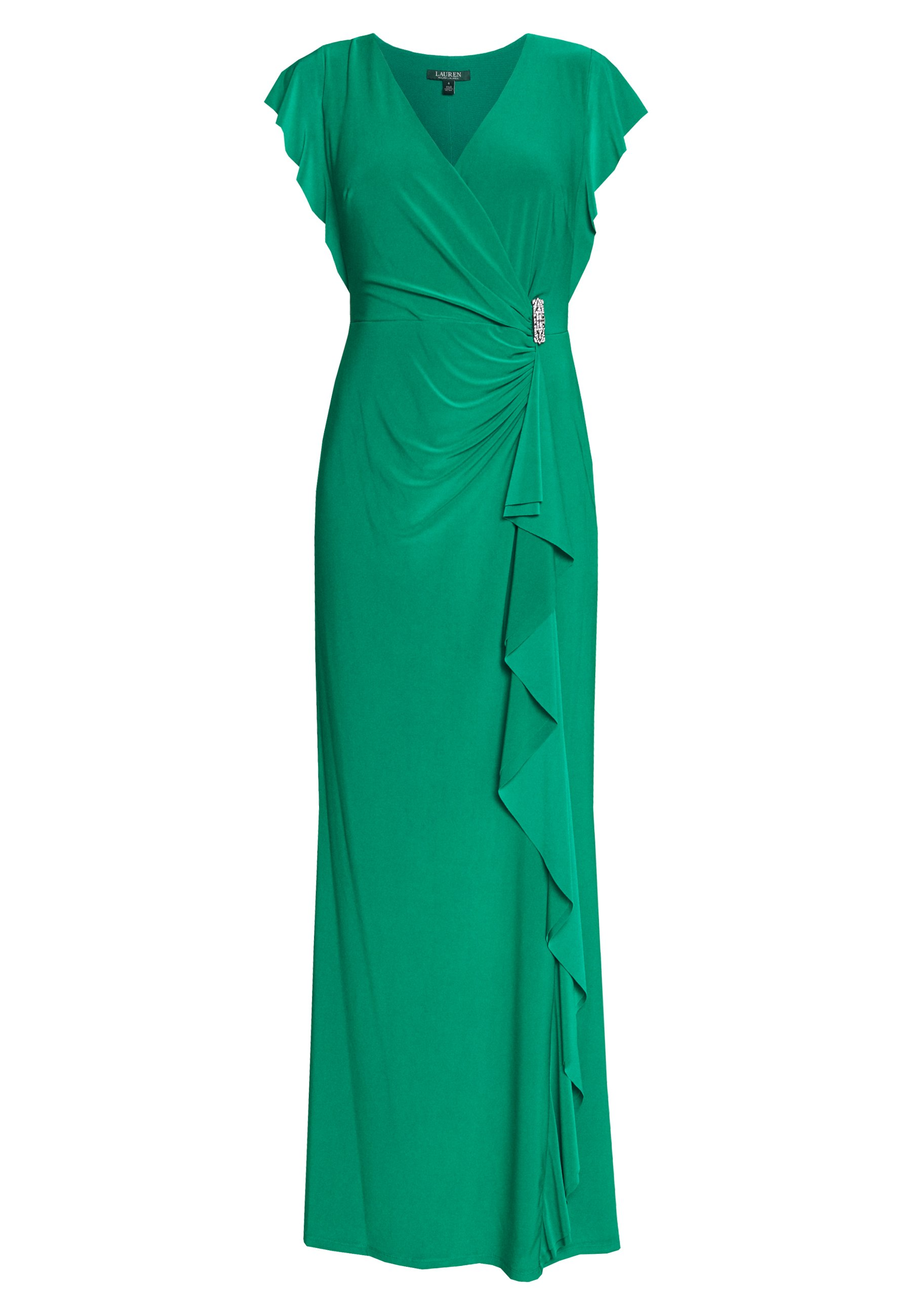 Lauren Ralph Lauren CLASSIC LONG GOWN TRIM - Suknia balowa - malachite