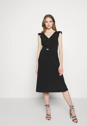 BONDED DRESS - Jersey dress - black