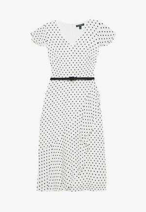 PRINTED DRESS BELT - Day dress - colonial cream