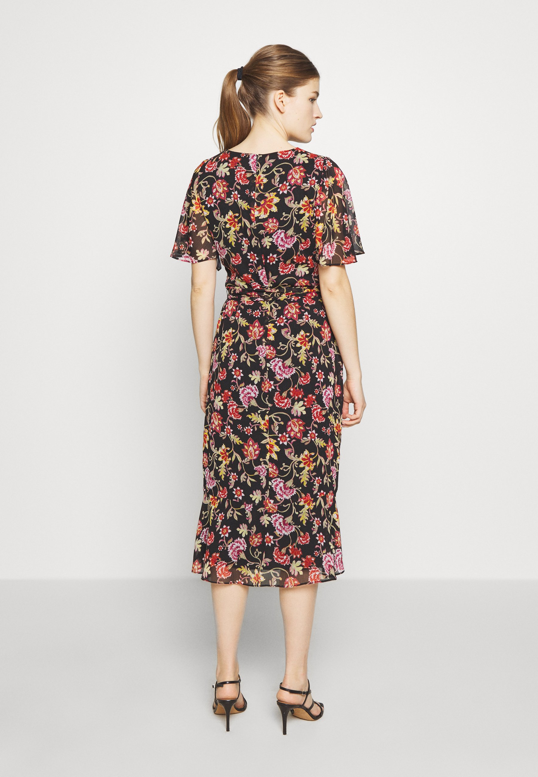 Lauren Ralph Lauren PRINTED GEORGETTE DRESS - Sukienka letnia - black/pink/multi
