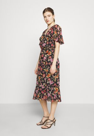 PRINTED GEORGETTE DRESS - Denní šaty - black/pink/multi