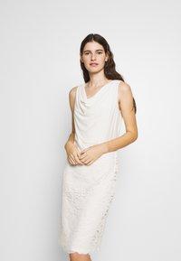 Lauren Ralph Lauren - ISABELLA LACE DRESS COMBO - Cocktailjurk - matte ivory - 0