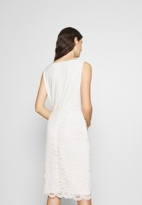 Lauren Ralph Lauren - ISABELLA LACE DRESS COMBO - Cocktailjurk - matte ivory - 2