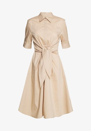 SILKY DRESS - Shirt dress - birch tan